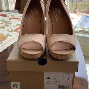 Toms Stella nubuck Wedge sandals